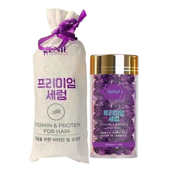 Serum dưỡng phục hồi tóc Genie Vitamin & Protein For Hair