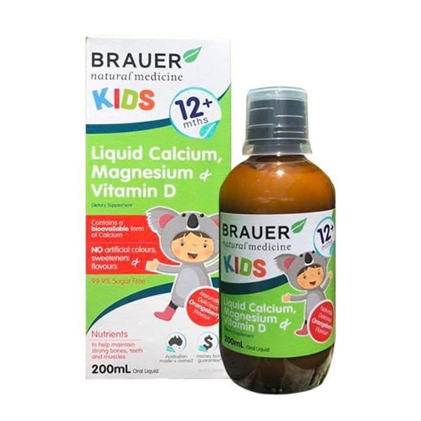 Siro Brauer Kids Liquid Calcium Magnesium Vitamin D 200ml