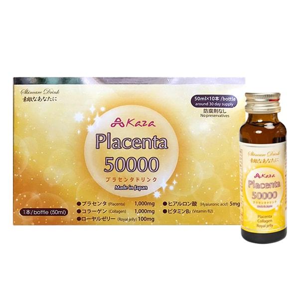 Nước uống đẹp da Kaza Placenta 50000mg 10 chai x 50ml