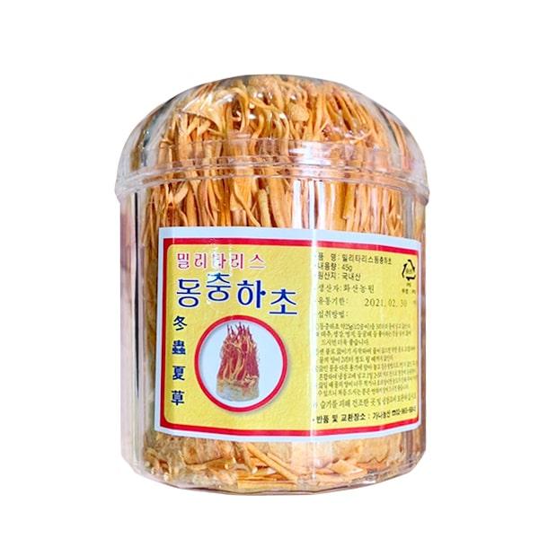 Đông trùng hạ thảo Hàn Quốc sấy khô hộp 45g bồi bổ sức khỏe