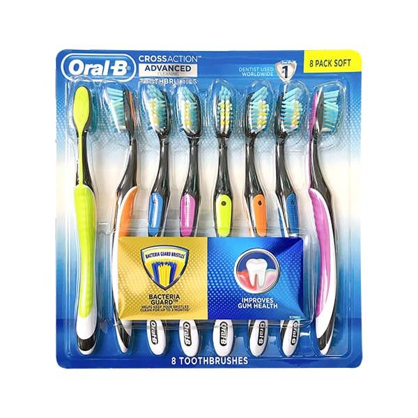 Set 8 bàn chải đánh răng Oral-B Cross Action Advanced Mỹ