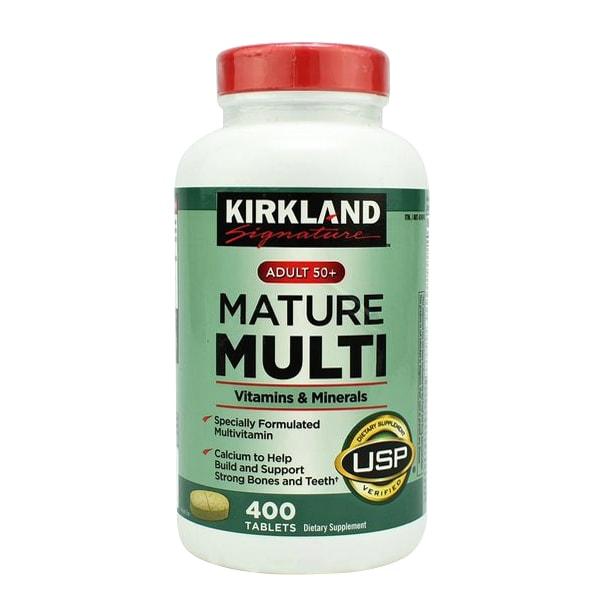 Vitamin tổng hợp Kirkland Mature Multi Adult 50+ của Mỹ