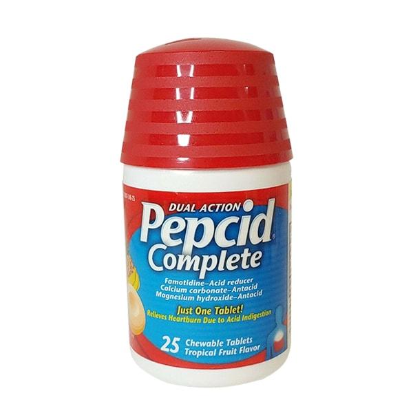 Viên ngậm Pepcid Complete 25 viên, giảm chứng ợ nóng