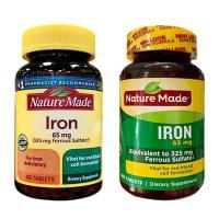 Viên uống bổ sung sắt Iron 65mg Nature Made 365 viên của Mỹ