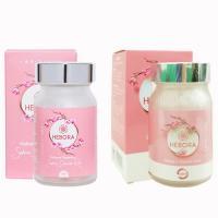 Viên uống thơm cơ thể Hebora Sakura Damask Rose Nhật 60 viên