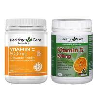 Viên nhai Healthy Care Vitamin C 500mg hộp 500 viên Úc