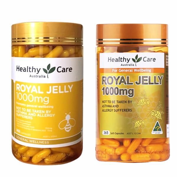 Sữa Ong Chúa Úc Healthy Care Royal Jelly 1000mg 365 Viên