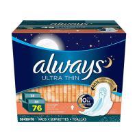 Băng vệ sinh Always Ultra Thin Advance 76 miếng ban đêm