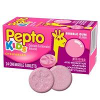 Viên nhai trị đau bụng cho bé Pepto Kids Chewable 24 viên