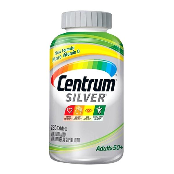 Viên Vitamin Centrum Silver Multivitamin 50+ 285 Viên Của Mỹ