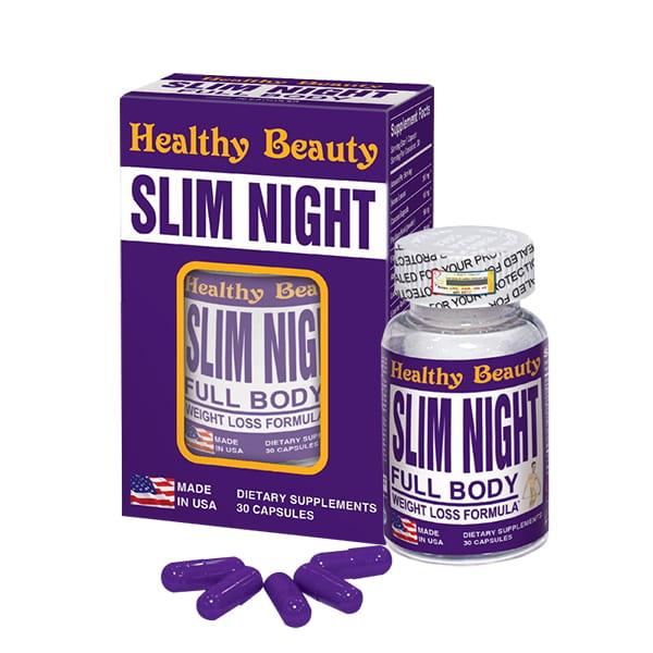 Viên uống giảm cân ban đêm Slim Night Healthy Beauty 30 viên