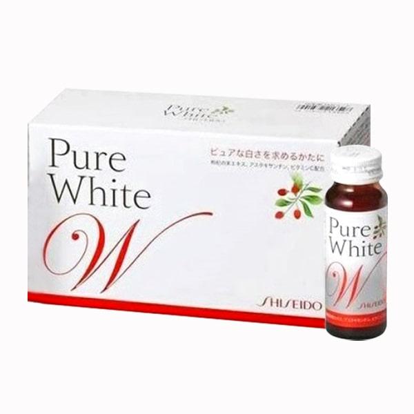 Nước uống shiseido pure white trắng da chính hãng Nhật Bản