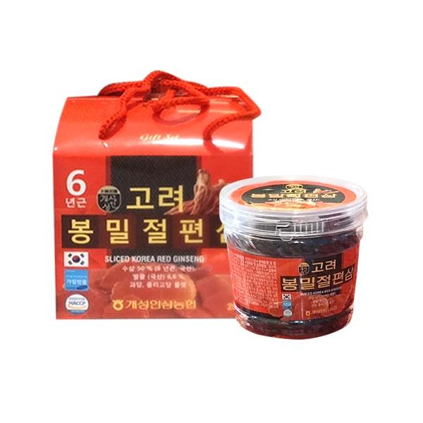 Hồng sâm lát tẩm mật ong Sliced Korea Red Ginseng 200g