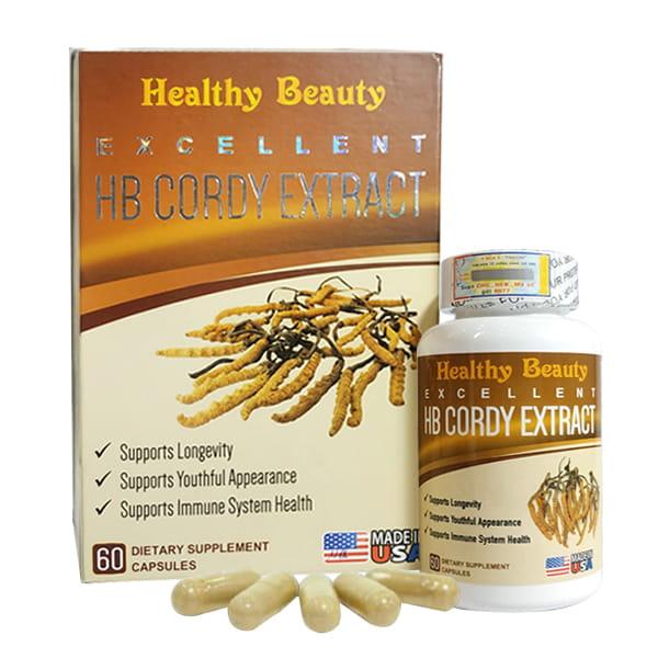 Đông trùng hạ thảo HB Cordy Extract Healthy Beauty 60 viên Mỹ