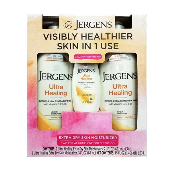 Bộ 3 chai dưỡng thể Jergens Ultra Healing Moisturizer của Mỹ