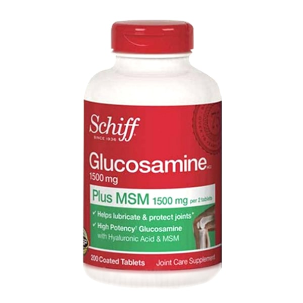 Schiff Glucosamine 1500mg Plus MSM + Joint Fluid 200 Viên