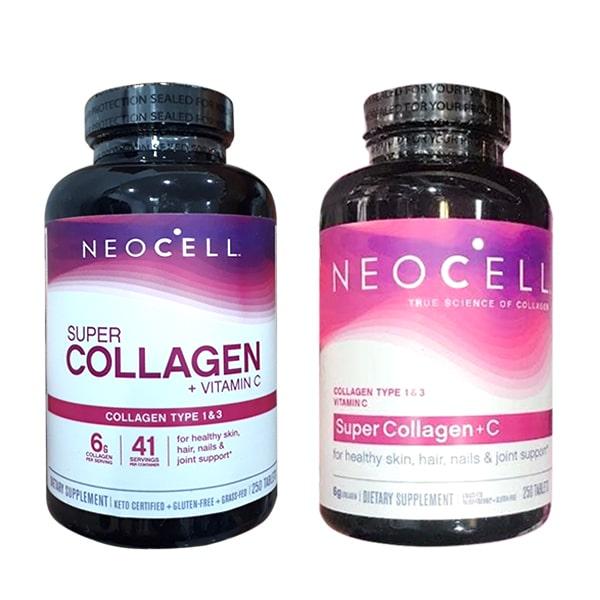 Collagen + C 250 Viên Type I & III Mỹ - Super Collagen Neocell