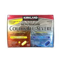 Viên uống trị cảm cúm, ho sốt Kirkland Cold & Flu Severe 168v