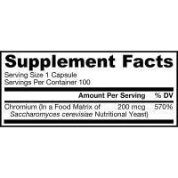 Viên uống cân bằng đường huyết Jarrow Chromium GTF 200mcg
