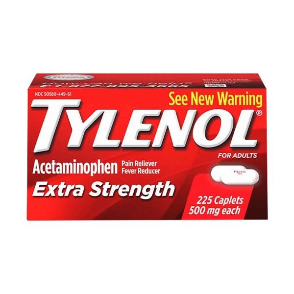 Viên uống giảm đau hạ sốt Tylenol Extra Strength 500mg của Mỹ