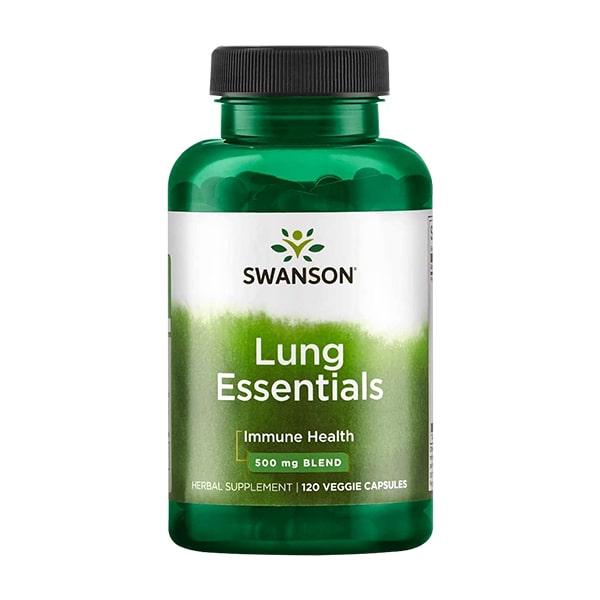 Viên uống bổ phổi Swanson Lung Essentials 500mg 120 viên Mỹ