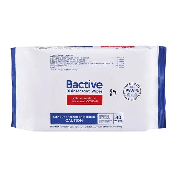 Khăn ướt diệt khuẩn Bactive Disinfectant Wipes 80 tờ của Mỹ