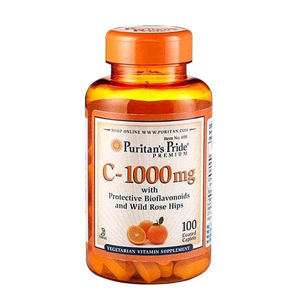 Viên uống Vitamin C 1000mg Puritans Pride 100 viên-Mỹ