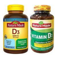 Viên uống bổ sung Vitamin D3 Nature Made 1000 IU mẫu mới