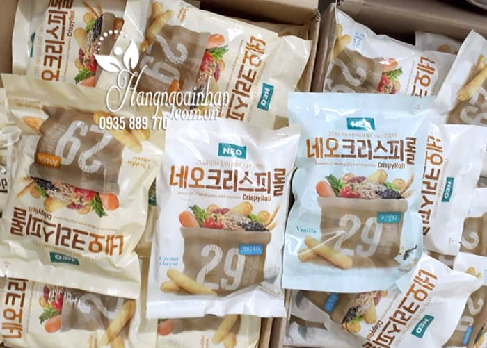 Bánh ngũ cốc cuộn kem phô mai Neo Cripsy Roll 80g Hàn Quốc 3