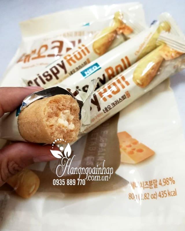 Bánh ngũ cốc cuộn kem phô mai Neo Cripsy Roll 80g Hàn Quốc 1