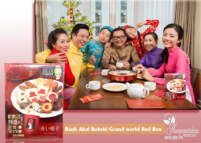 Bánh cao cấp Akai Bohshi của Nhật Bản, hộp 59 cái