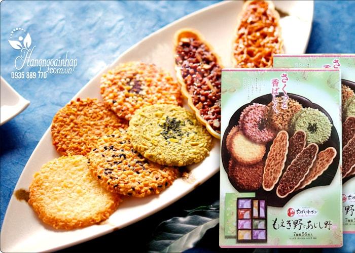 Bánh gạo cao cấp Tivoli Tivon 6 vị 56 cái của Nhật