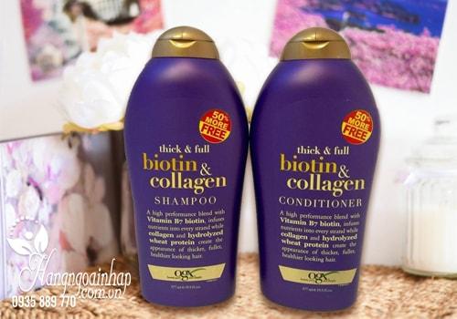Bộ Dầu Gội Và Xả Thick And Full Biotin Collagen 577ml Của Mỹ