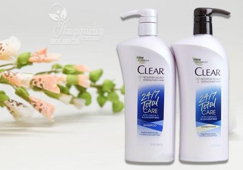 Bộ dầu gội xả trị gàu Clear 24/7 Total Care 647ml của Mỹ