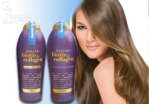 Bộ dầu gội - xả kích thích mọc tóc Biotin & Collagen của Mỹ 750ml