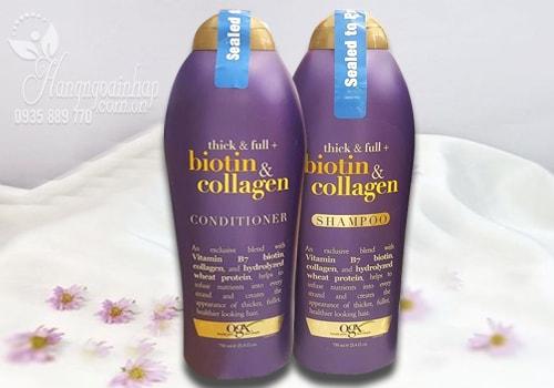 Bộ dầu gội xả kích thích mọc tóc Biotin & Collagen của Mỹ 750ml
