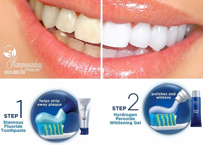 Bộ sản phẩm làm trắng răng Crest HD Pro-Health Daily Two Step chỉ với 2 bước của Mỹ