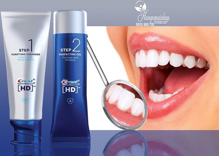 Bộ sản phẩm làm trắng răng Crest HD Pro-Health Daily Two Step 2 bước của mỹ