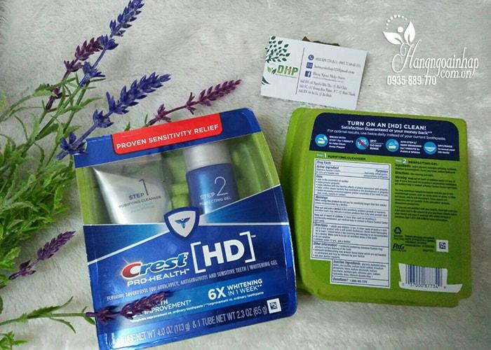 Bộ sản phẩm làm trắng răng Crest HD Pro-Health Daily Two Step của Mỹ