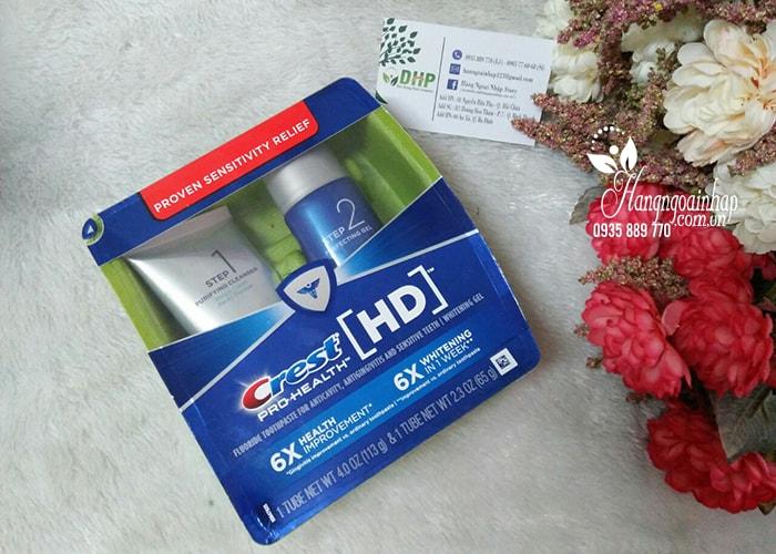 Bộ sản phẩm làm trắng răng Crest HD Pro-Health Daily Two Step