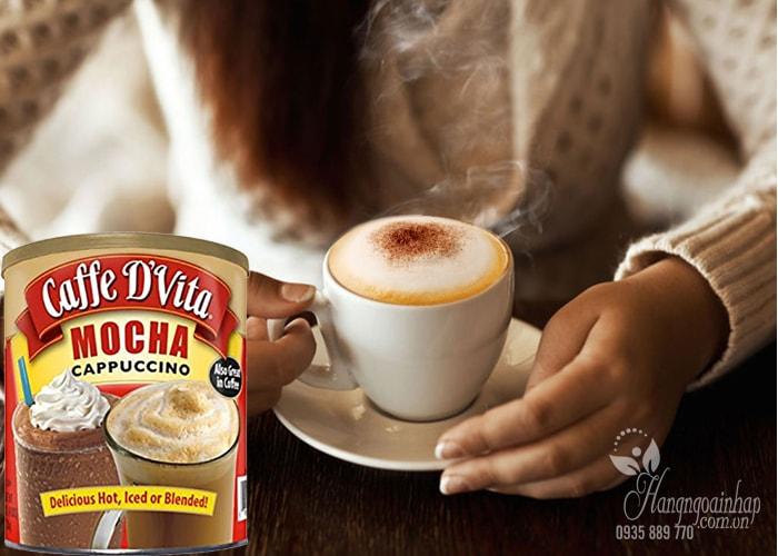 Bột cà phê hòa tan Caffe D'Vita Mocha Cappuccino của Mỹ