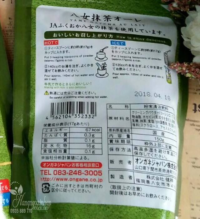 Bột trà xanh sữa Matcha Milk Yame của Nhật Bản
