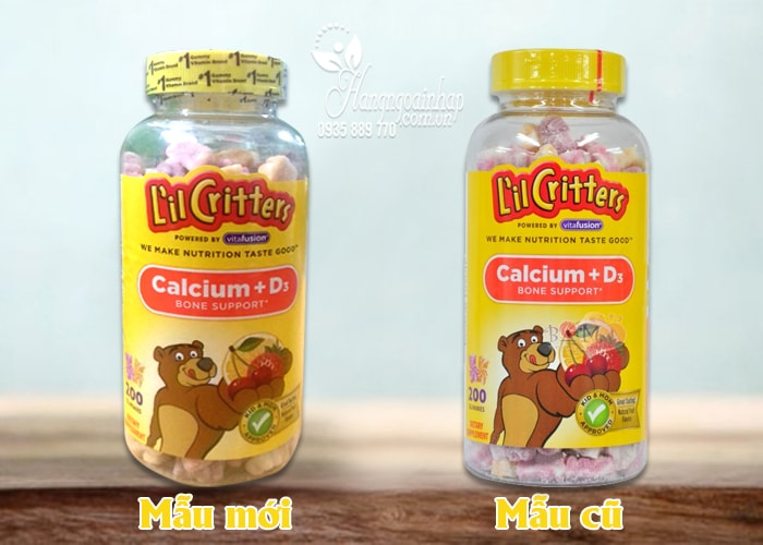 Calcium Gummy Bears With Vitamin D 200 viên