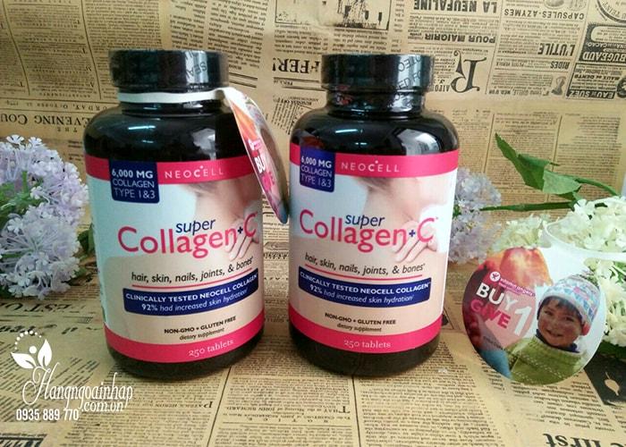 Viên uống đẹp da Super Collagen +C 250 viên type 1-3 mẫu mới