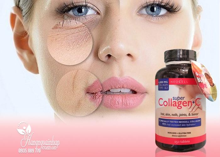 Viên uống Super Collagen +C 250 viên type 1&3 của mỹ