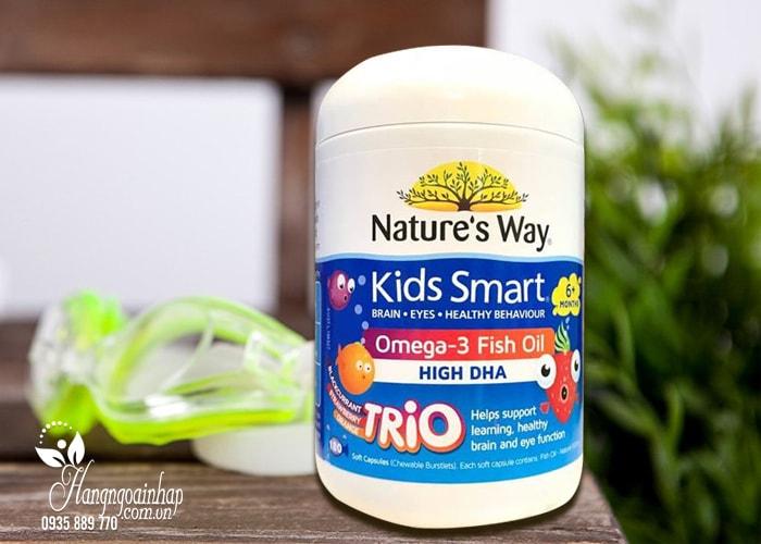 Dầu cá Kids Smart Omega 3 Fish Oil High DHA 180 viên của Úc