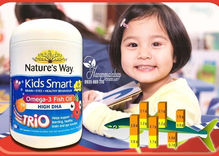 Dầu cá Kids Smart Omega 3 Fish Oil High DHA 180 viên