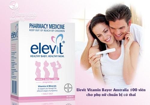 Vitamin Cho Bà Bầu Elevit Healthy Baby.Healthy Mum 100 Viên Của Úc