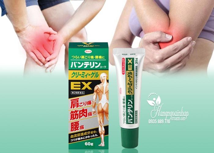 Gel bôi giảm đau nhức và viêm khớp Banterin Kowa EX 60g của Nhật