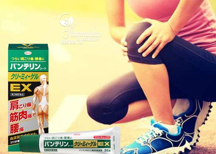 Gel bôi giảm đau nhức và viêm khớp Banterin Kowa EX của Nhật Bản